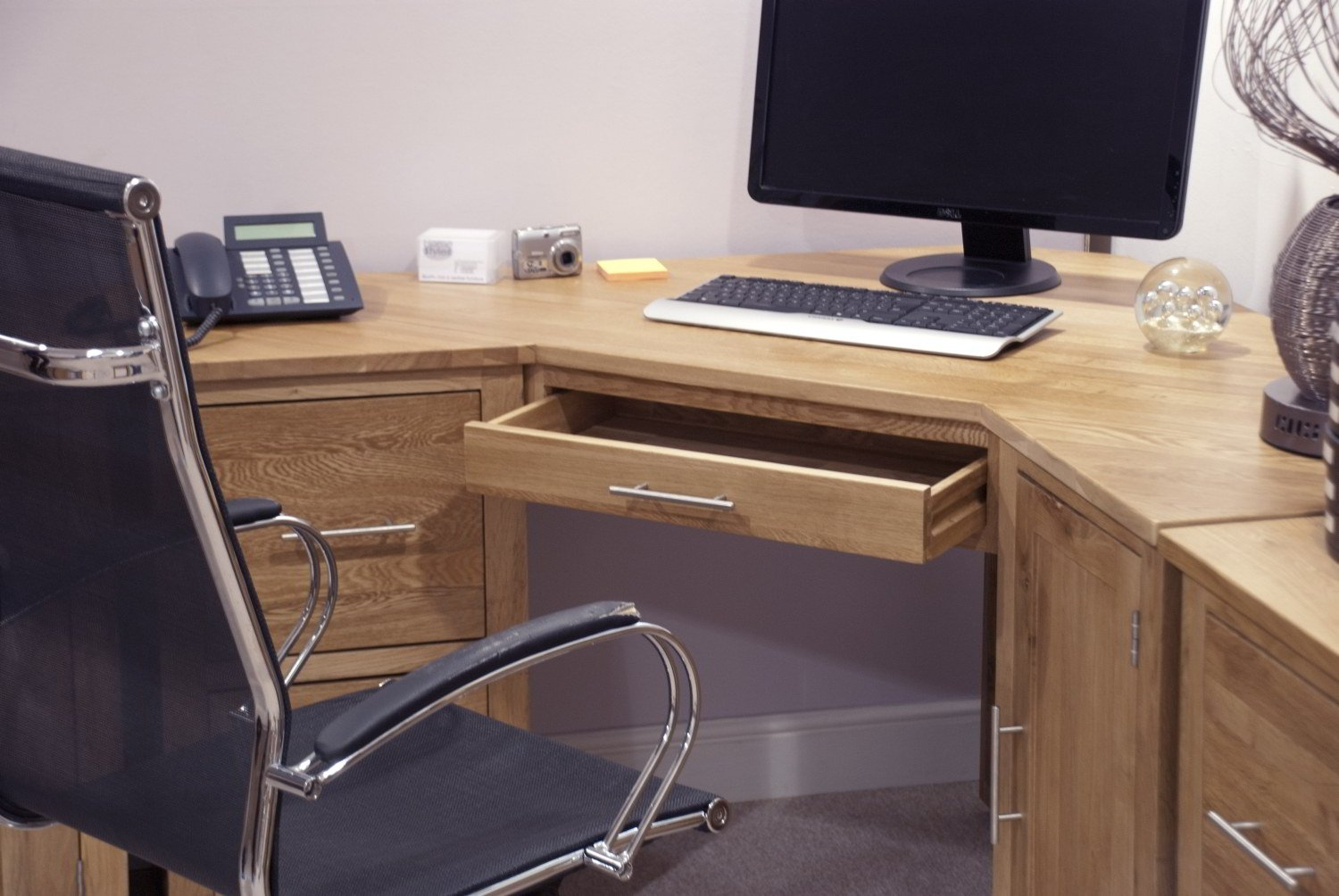 corner desk office. Eton Solid Oak Furniture Office PC Corner Computer Desk: Amazon.co.uk: Kitchen \u0026 Home Desk O