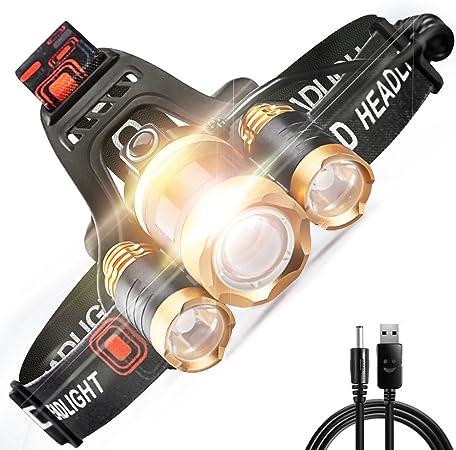Top Zoom Lampe Frontale Lampe au Chapeau CREE DEL Lampe Lampe de Poche Pêche Camping Vélo