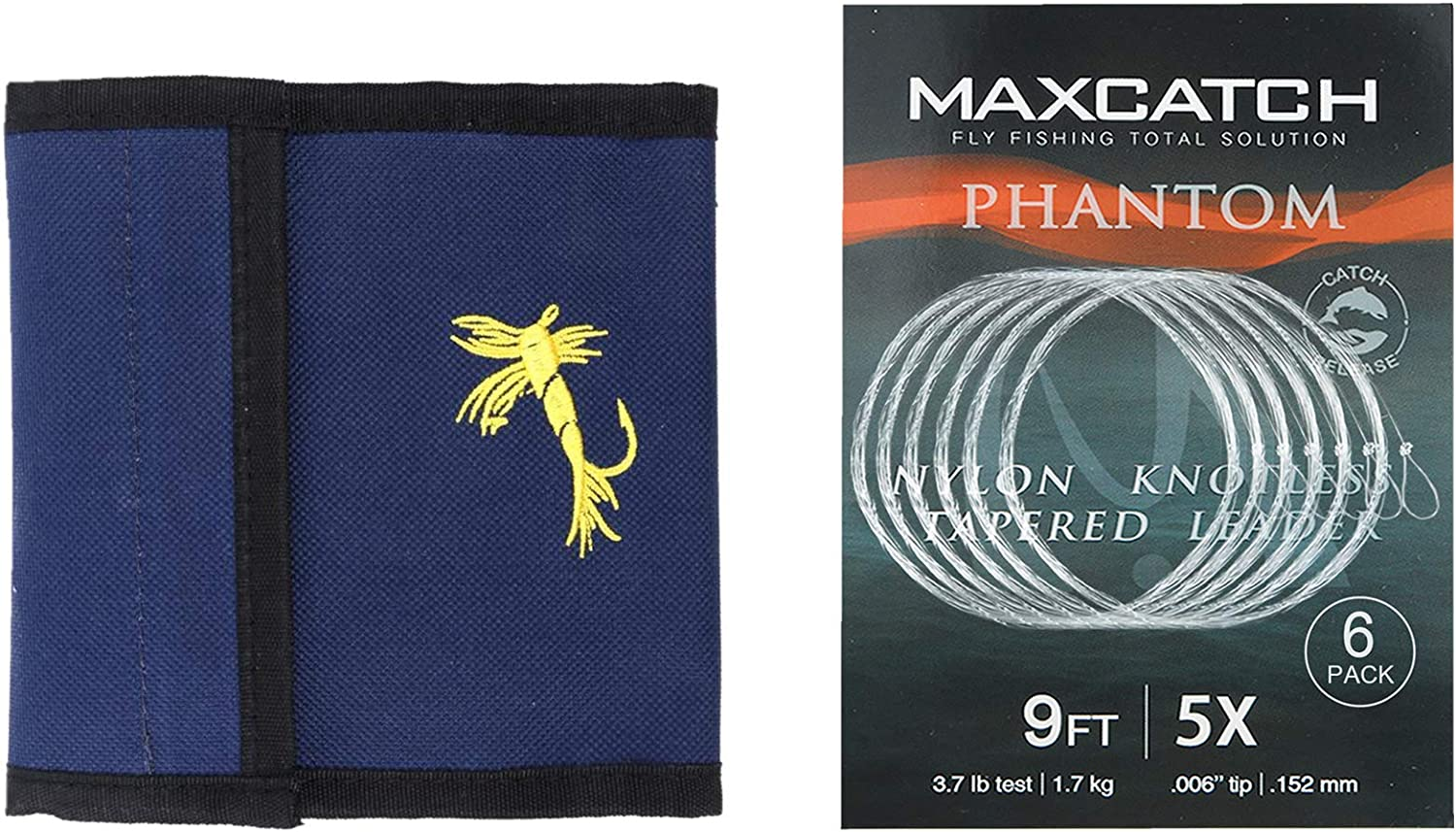 Details about  /Maxcatch Fly Fishing Tapered Leader Line with Loop 6 Pack:7.5ft//9ft//12ft 0X-7X