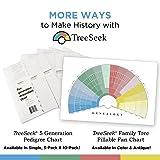 TreeSeek 15 Generation Pedigree Chart | Blank