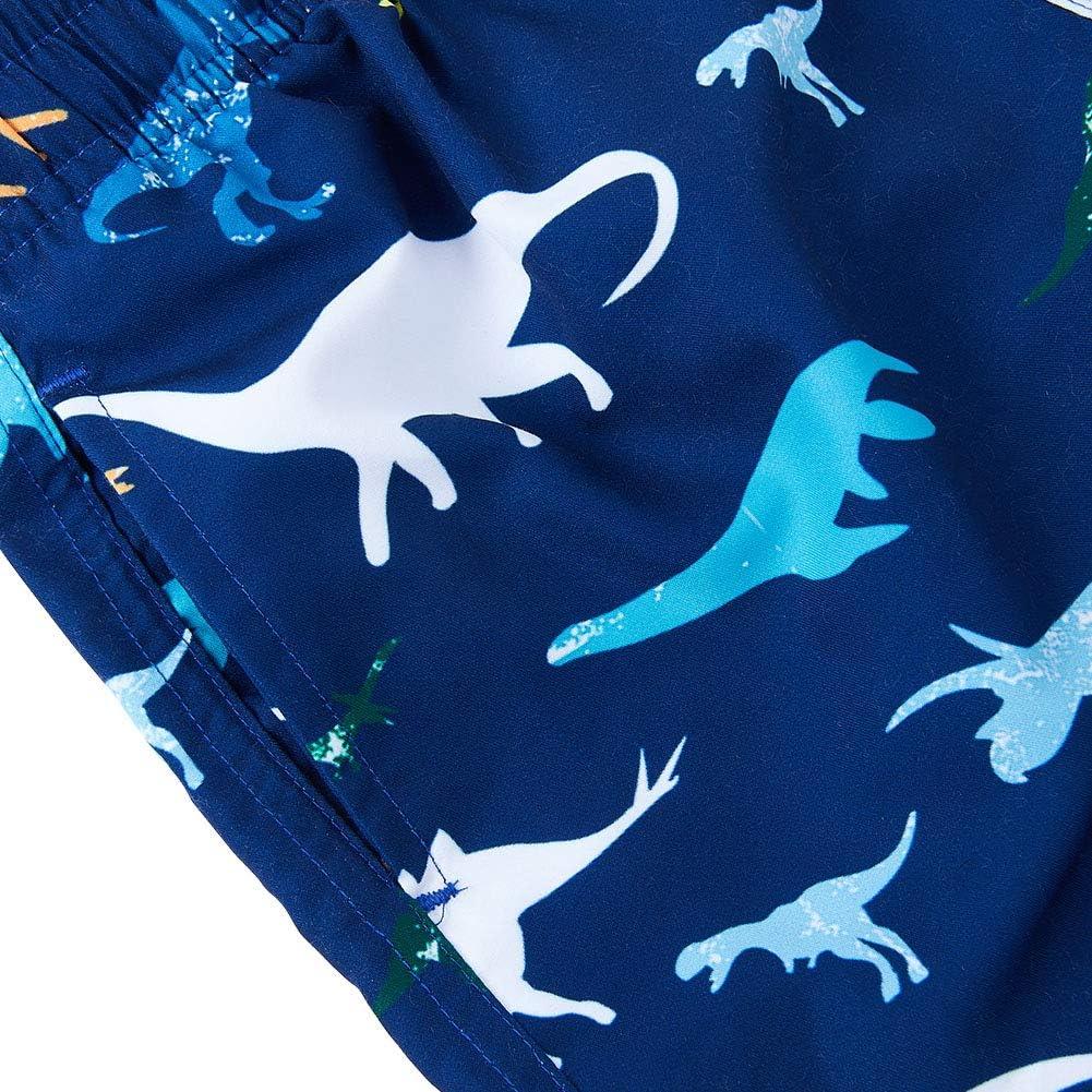 Fanient Boys 3D Printed Funny Swim Trunks Quick Dry Beachwear Sports Running Swim Board Shorts 4-12Y Donut