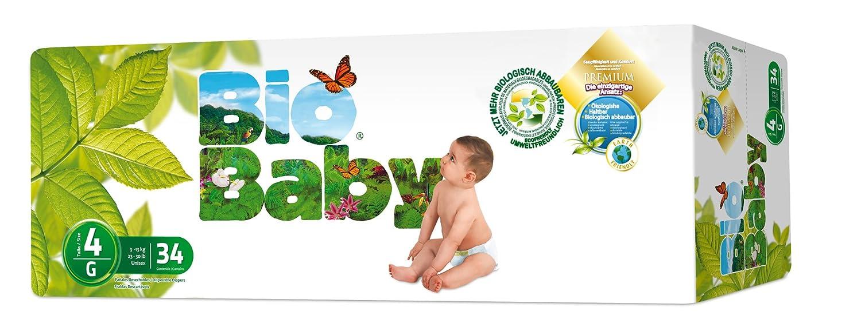 Moltex - BBPA4 - Pañales Moltex Bio Baby T4 (9-13 kg) 34 uds: Amazon.es: Bebé