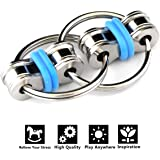 Flippy Chain Fidget Toy Relieve Stress Reducer for Autism, ADD, ADHD, and Autism Boredom your Finger Tips (Blue)