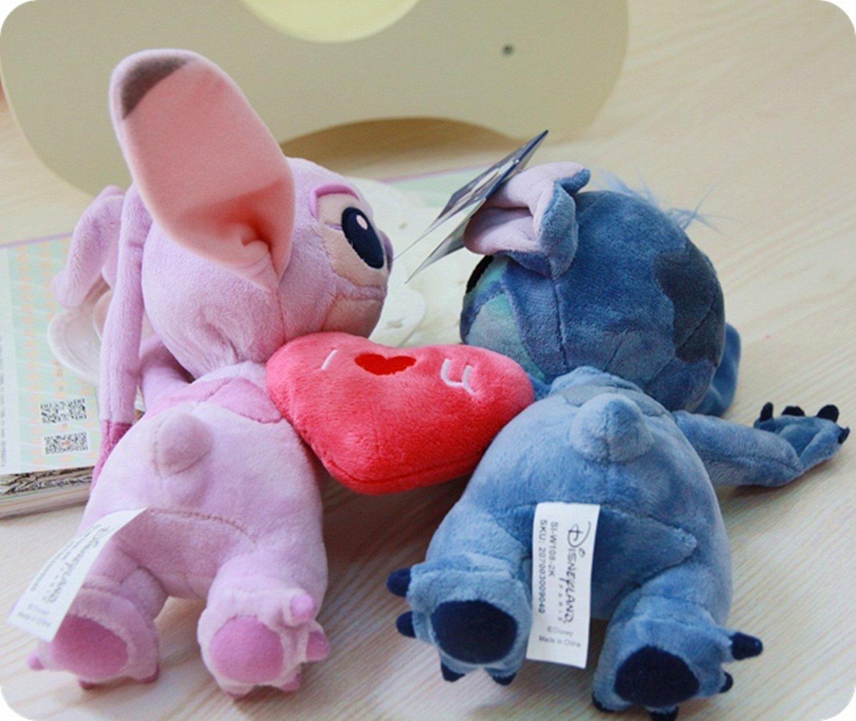 Disney Lilo & Stitch Stitch & Angel Sweet Lovers relleno felpa muñeca de juguete 1 par de edición limitada: Amazon.es: Juguetes y juegos