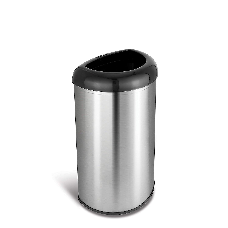 Amazon Com Ninestars Ott 50 19bk Open Top Office Bathroom Trash Can