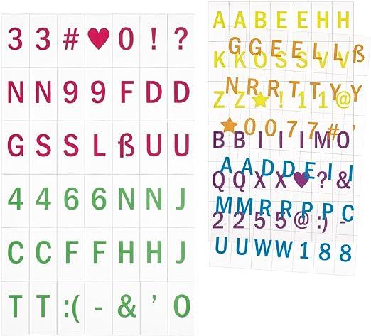 kwmobile Set de Letras para Caja de luz A5-126 símbolos y números ...