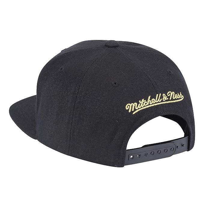 promo code 13194 1bbd4 Amazon.com   Mitchell   Ness Houston Rockets Presto Adjustable Snapback Hat  Black Gold   Sports   Outdoors