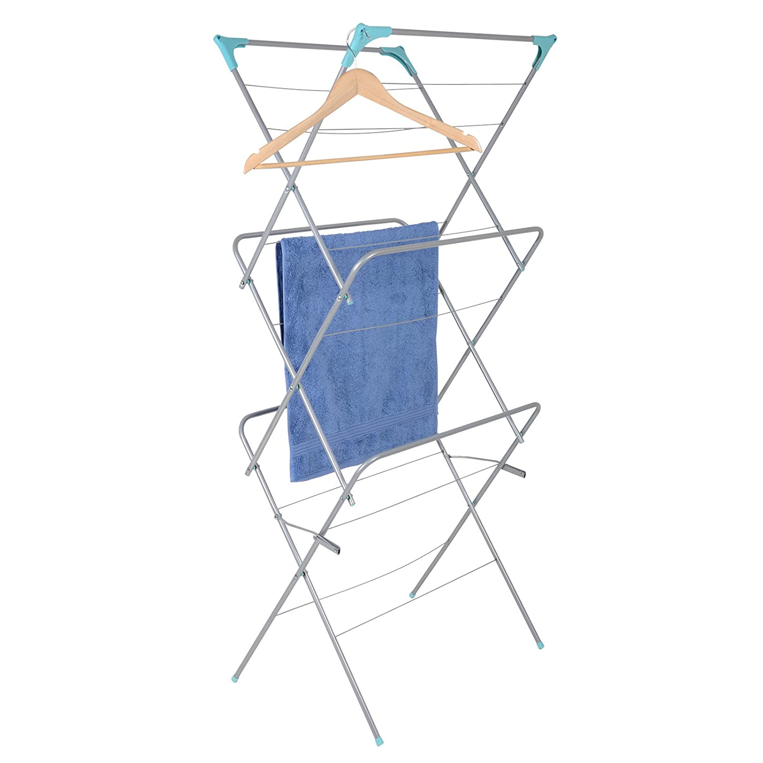 3Tier Indoor Outdoor Clothes Airer Dryer Folding Laundry Horse Concertina New XSS