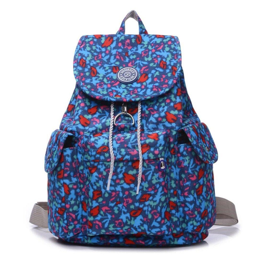 c4c394844af8 Large Water Resistant Nylon Backpack Purse Lightweight Outdoor ...