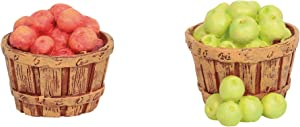Department 56 Cross Product Accessories Village Baskets of Apples Figurine Set, 0.98 Inch, Multicolor