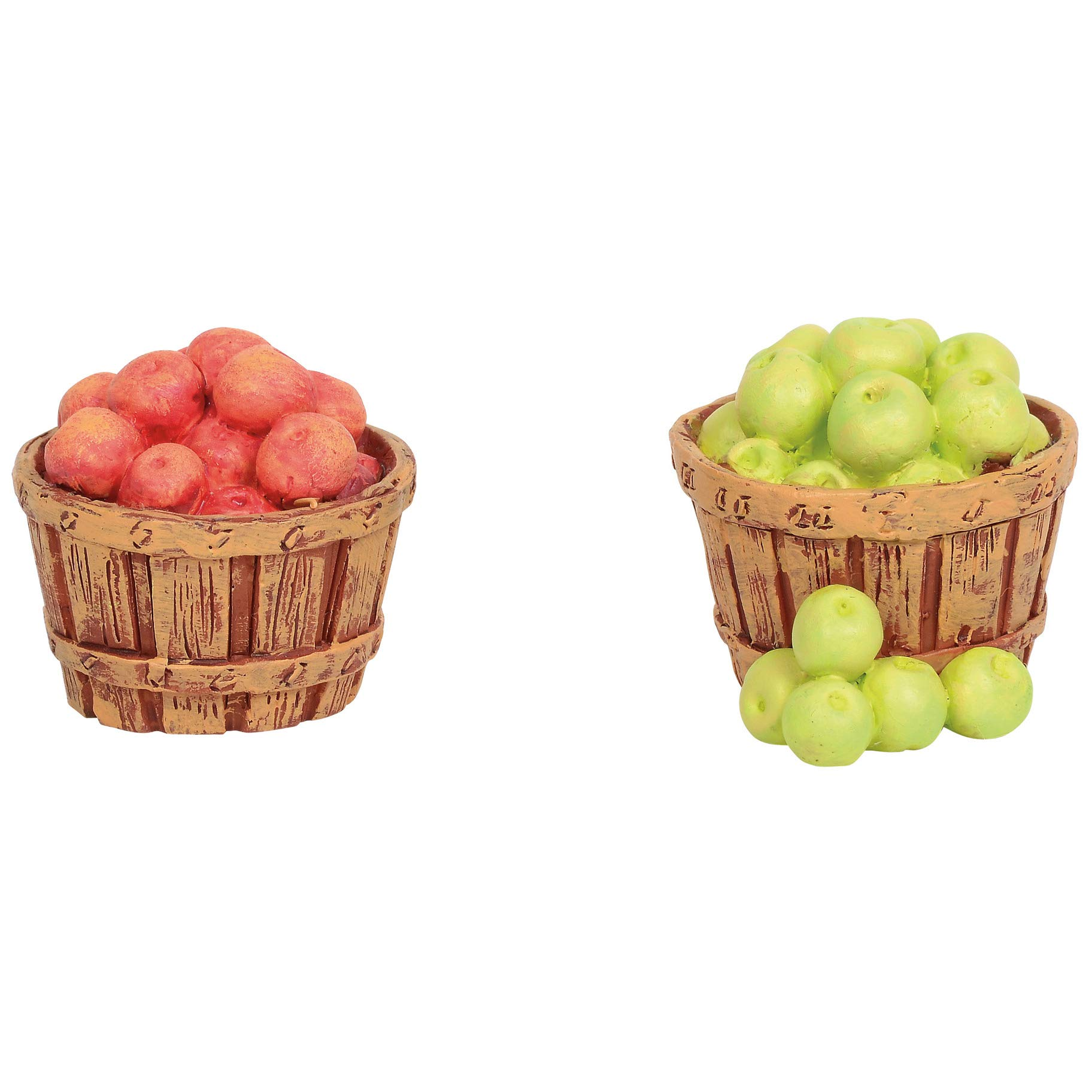 Department 56 Collections Accessories Village Baskets of Apples Figurines, 0.98'', Multicolor by Department 56