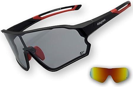 Rockbros Occhiali bici polarizzati fotocromatici Eyewear con la miopia Telaio Rosso