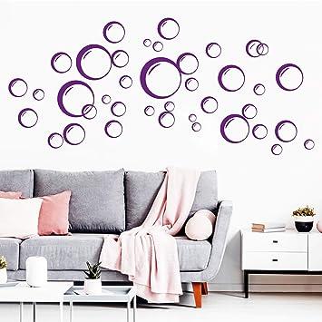Vinilos Decorativos Burbujas.Wandtattoo Loft Adhesivo De Pared Burbujas 40x Circulos