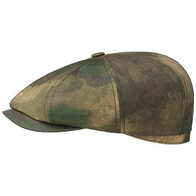 8fa7eb45690c4 Stetson Hatteras Camouflage Flat Cap Ivy hat caps  Amazon.co.uk  Clothing