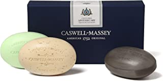product image for Caswell-Massey Triple Milled Luxury Bath Soap Apothecary Collection – 3 Assorted Fragrances - 5.8 Ounces Each, 3 Bars