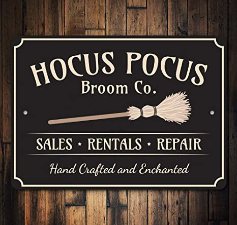 """Hocus Pocus Halloween Decor 23.5/""""x9/"""" I Put a Spell on You Metal and Wood Sign"""