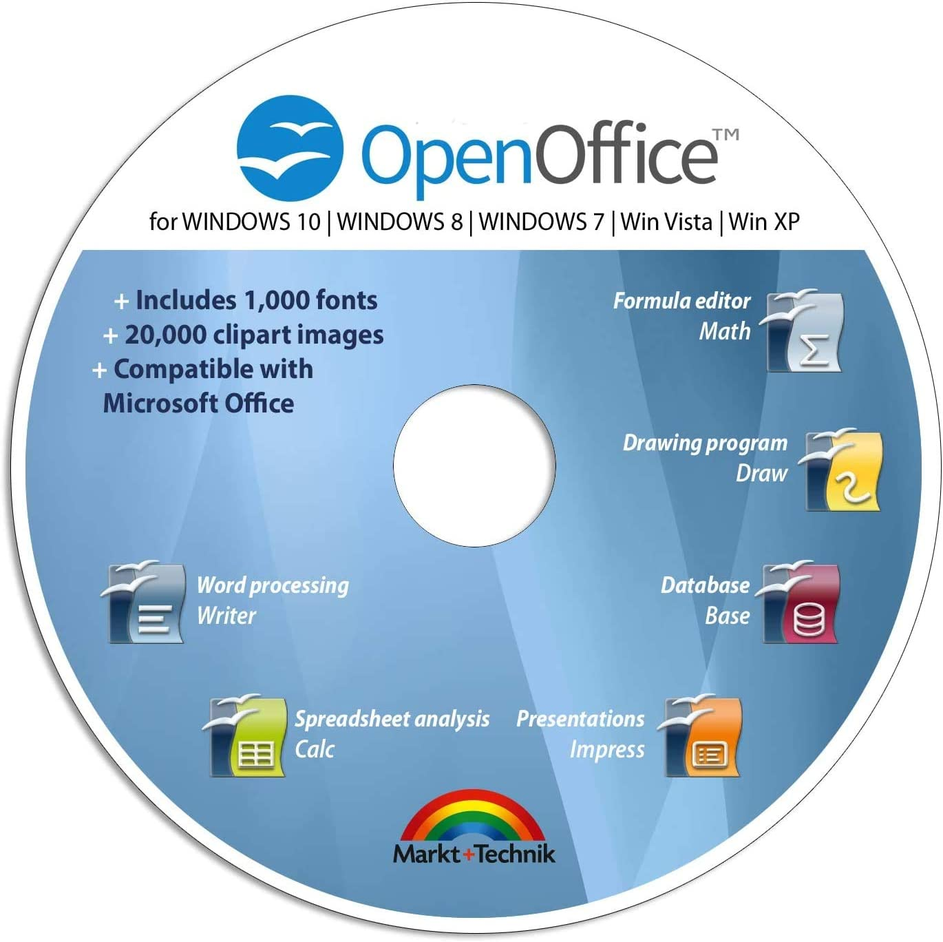 Office Suite 2019 Edition CD DVD 100% compatible with Microsoft® Word® and Excel® for Windows 10-8-7-Vista-XP