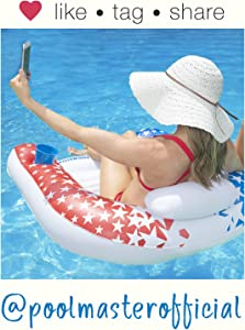 Poolmaster 85593 American Stars Paradise Water Chair Swimming Pool Float
