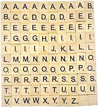 Genérico de Madera Independiente MDF Letras de Scrabble Alfabeto de la A a la Z - Negro: Amazon.es: Equipaje