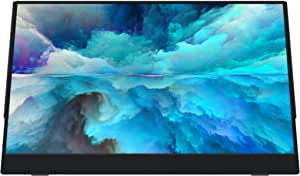 VIOTEK LinQ 16 Inch Portable Monitor – Full HD 1080P Thin IPS Panel w/Built in Speakers, (2X) USB Type C, (1x) HDMI Mini, (1x) 3.5mm Audio Port - for Laptop, Tablet or Mobile Smartphone (P16C)