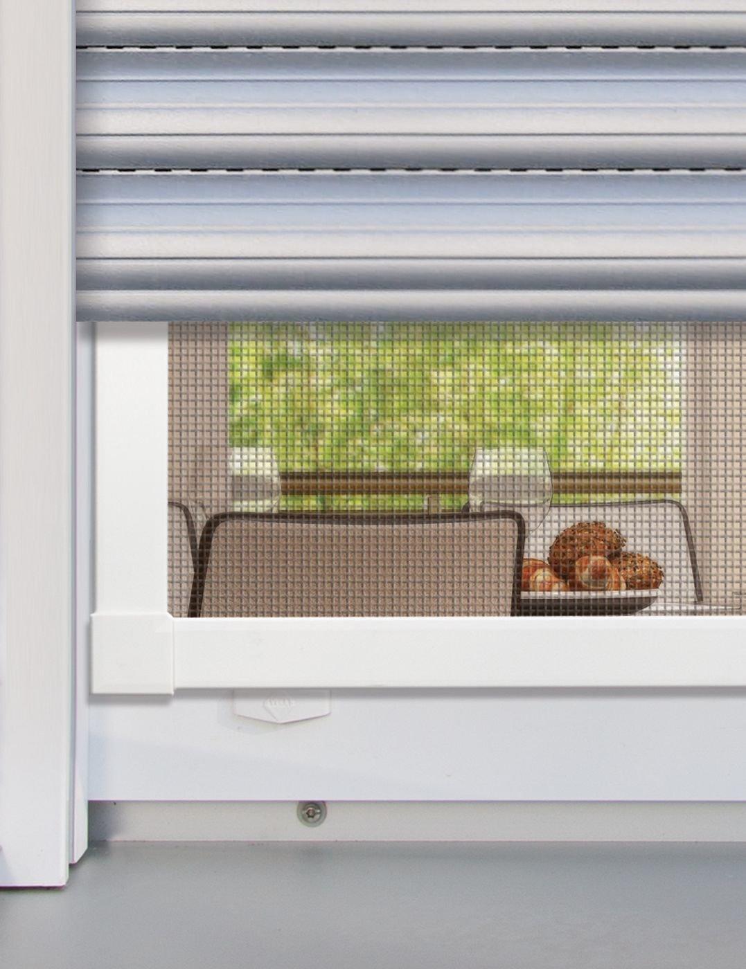 Fliegengitter mit Rahmen aus Aluminium 100 x 120 cm Schellenberg 70041 Insektenschutz Fenster Premium