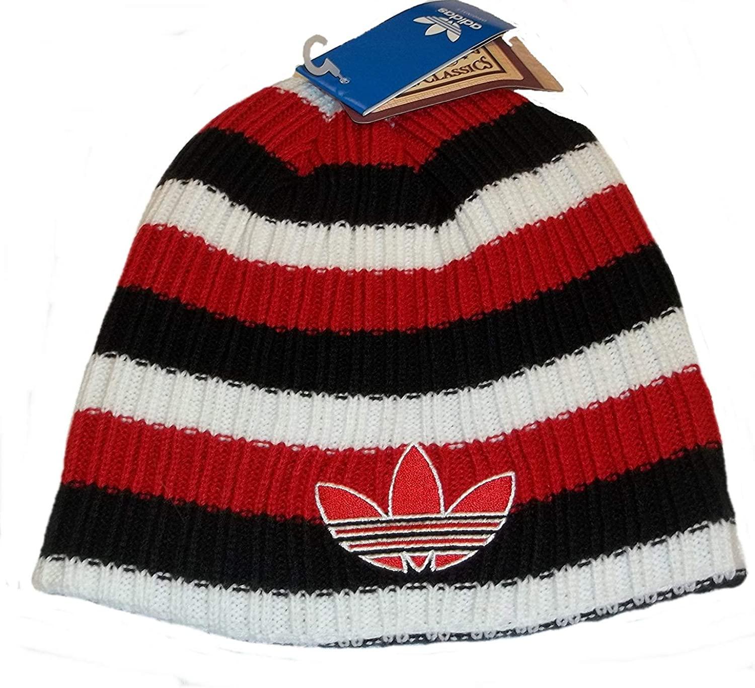 Chicago Bulls Striped Cuffless Knit NBA Adidas Officially Licensed Hat