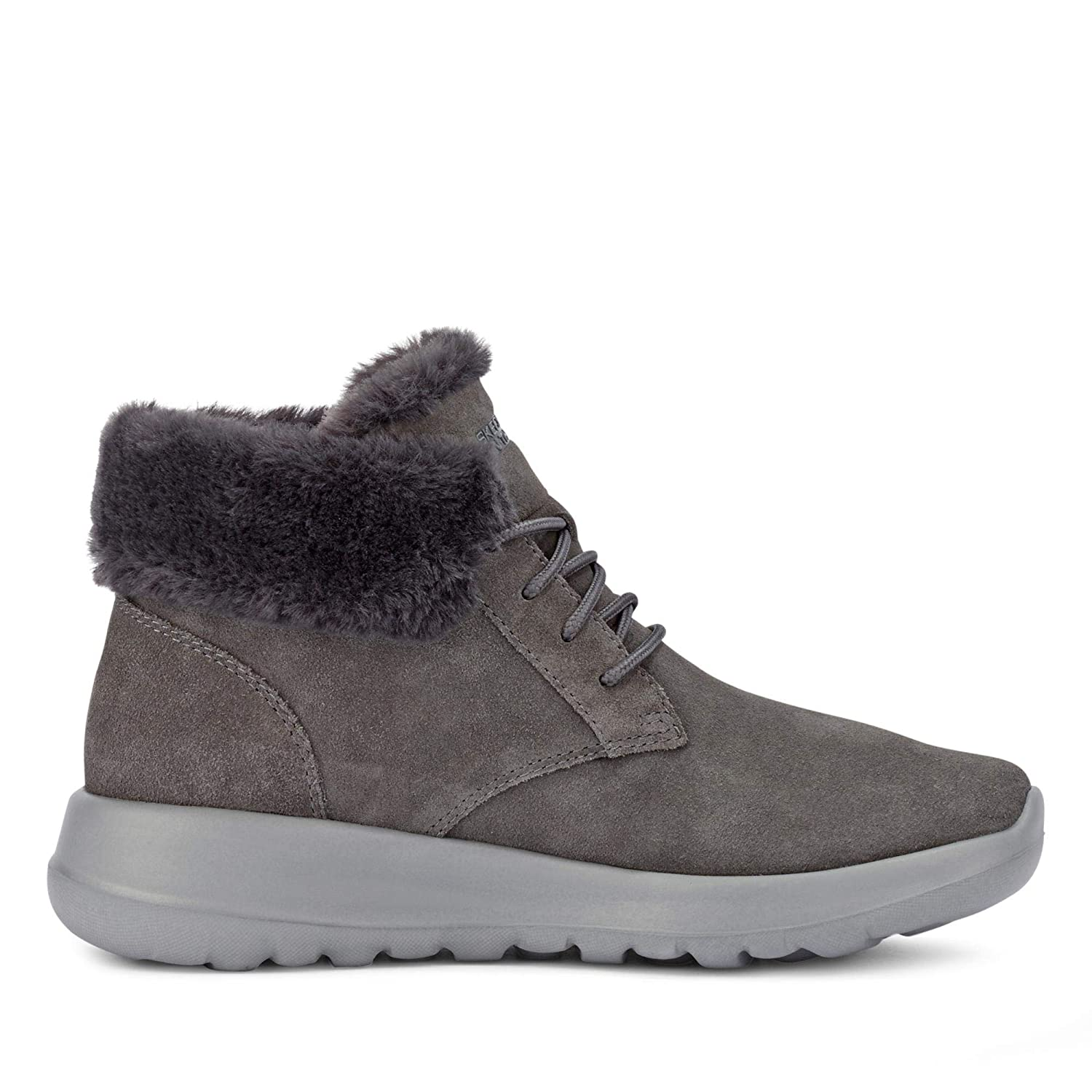 Skechers 15506 Char On The Go Joy Lush Damen Boots Veloursleder warm gefüttert