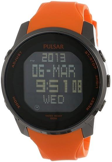 Pulsar Reloj Hombre de Digital con Correa en Caucho PQ2013X1: Amazon.es: Relojes
