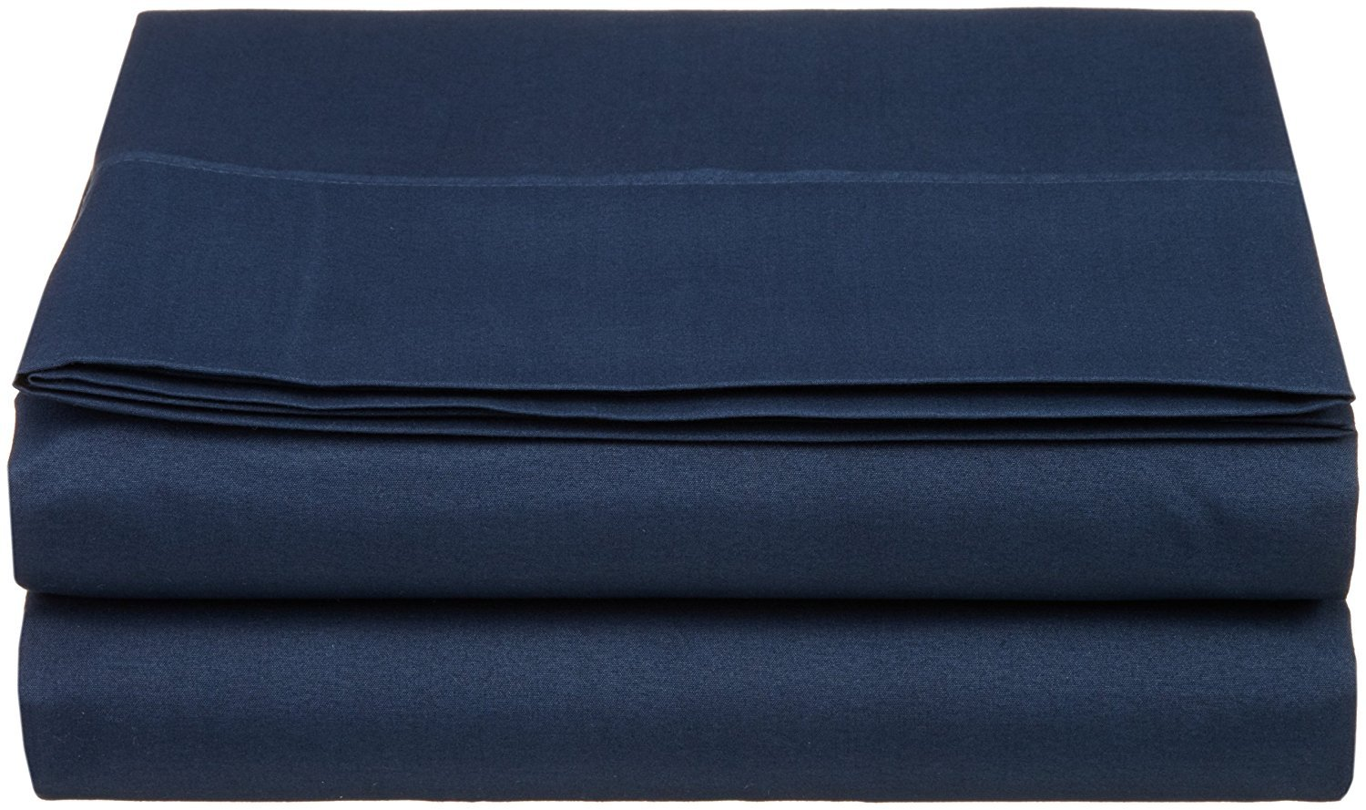 Full Size Flat Sheet 1800 Thread Count Double Brushed Microfiber Top Sheet Only - Soft, Hypoallergenic, Wrinkle, Fade, and Stain Resistant (Full, Navy Blue)