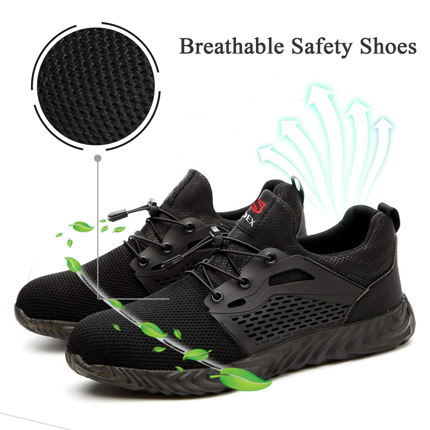7f7190578b142 SITAILE Safety Shoes for Men,Indestructible Steel Toe Shoes for  Women,Breathable Lightweight Slip Resistant Puncture Proof Industrial  Construction ...