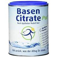 MADENA BasenCitrate Pur | Basenpulver 216g Dose | Das Original mit 100% organischen Basen VEGAN | Viel Magnesium als Citrat, Zink, Kalium, Calcium Diät - Basenfasten Vitamin D3 aus Flechten