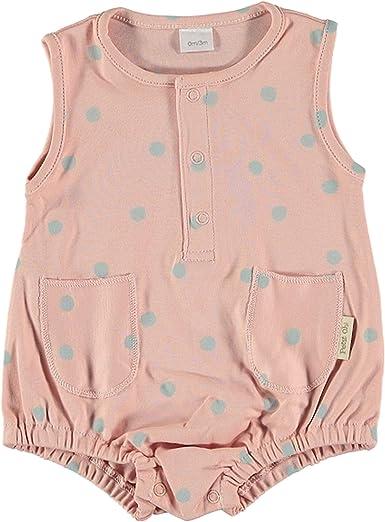 Petit Oh! - Pelele Ranita de Verano para bebé algodón Pima 100% (Recién Nacido, Rosa con Topos Verdes): Amazon.es: Ropa y accesorios