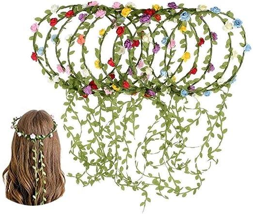 MULTI COLOURED Bridesmaid Flower Festival Wedding Forehead Headband Garland
