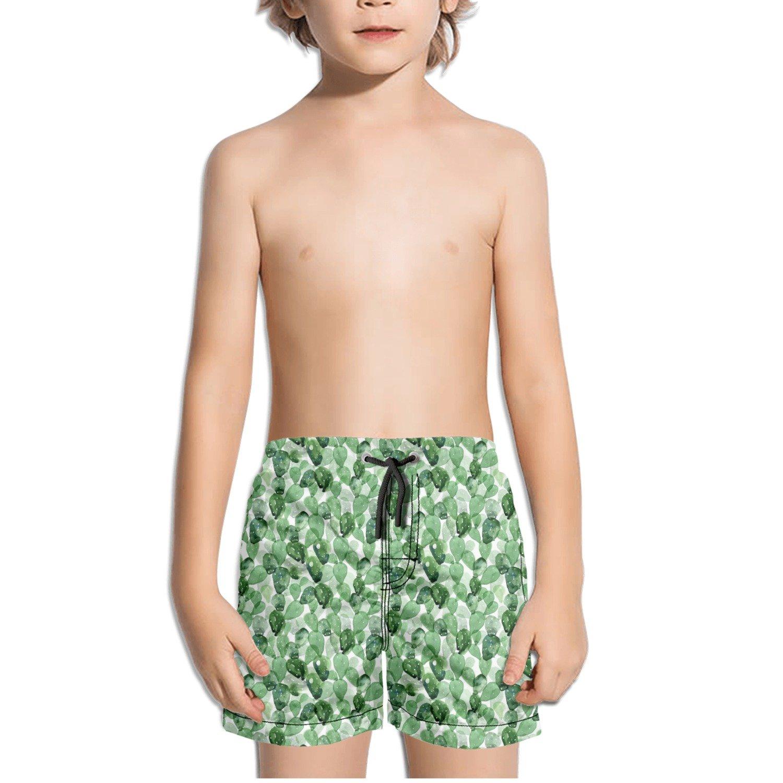 Cacti Cactus Love Plants Kids Boys Fast Drying Beach Swim Trunks Pants
