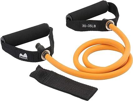Comprar REEHUT Bandas Elásticas de Entrenamiento, Bandas de Resistencia para Fitness Cable de Ejercicio de Entrenamiento para Tonificación Muscular, Equipo de Ejercicio de Estiramientos para Yoga