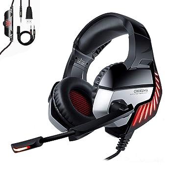 ONIKUMA PS4 - Auriculares de diadema para Xbox One, PC, estéreo, auriculares para