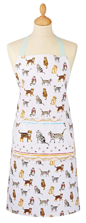 Cooksmart Cats on Parade Cotton Apron, Multi-Colour City Look Imports 9285