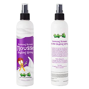 Amazon Com Snip Its Morning Miracle Natural Hair Mousse Spray 10oz Light Hold Kids Hair Products Tropical Smelling Kids Hair Gel Alternative For Unruly Curly Hair Made In Usa