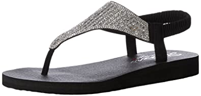 Skechers Cali Women s Meditation-Rock Crown Flat Sandal 048d0df2c10