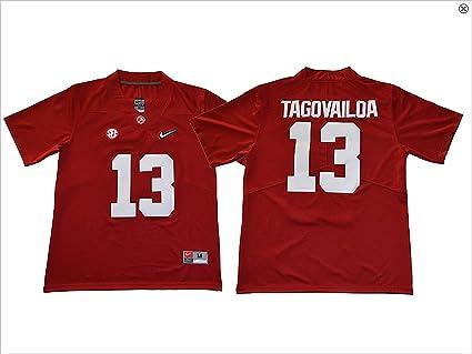 new style aec1e b3e7c CustomCat Tua Tagovailoa #13 Alabama Crimson Tide Jersey (Adult and Youth  Sizes)