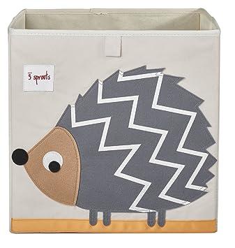 3 Sprouts Storage Box, Grey Hedgehog