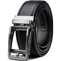 NUBILY Cinturones Hombre de Piel con Hebilla Automática Diseño sin Agujeros Tamaños 28-46