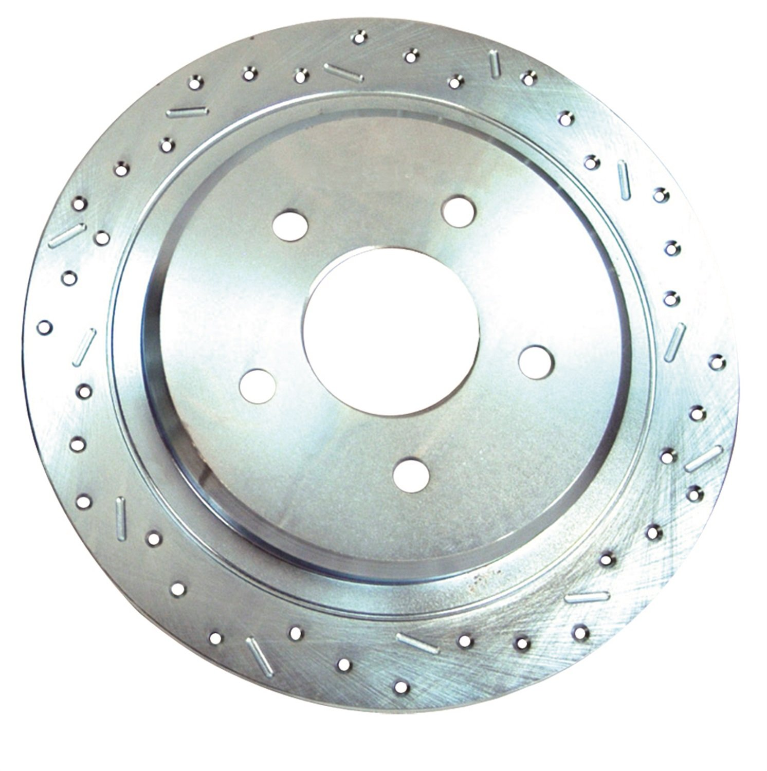 SSBC 23509AA3R Drilled Slotted Plated Front Passenger Side Rotor for 1995-97 Ranger 4WD Stainless Steel Brakes