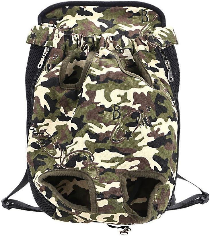 Ducomi/® Denim /& Canvas sac de transport pour animaux domestiques Sac /à dos ventral pour chien et chiot de transport multicolore