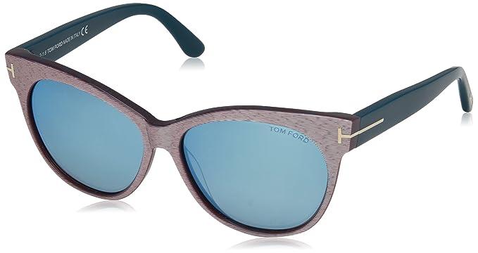 Tom Ford Saskia, Gafas de Sol para Mujer, Gris (Gris/Azul ...