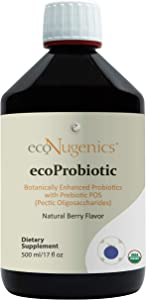 EcoProbiotic Probiotic and Prebiotic with 19 Digestive Herbs - Microbiome and Gut Health - Live Fermented Liquid Vegan Supplement Formula for Optimal Digestion & Immunity (17 fl. oz)