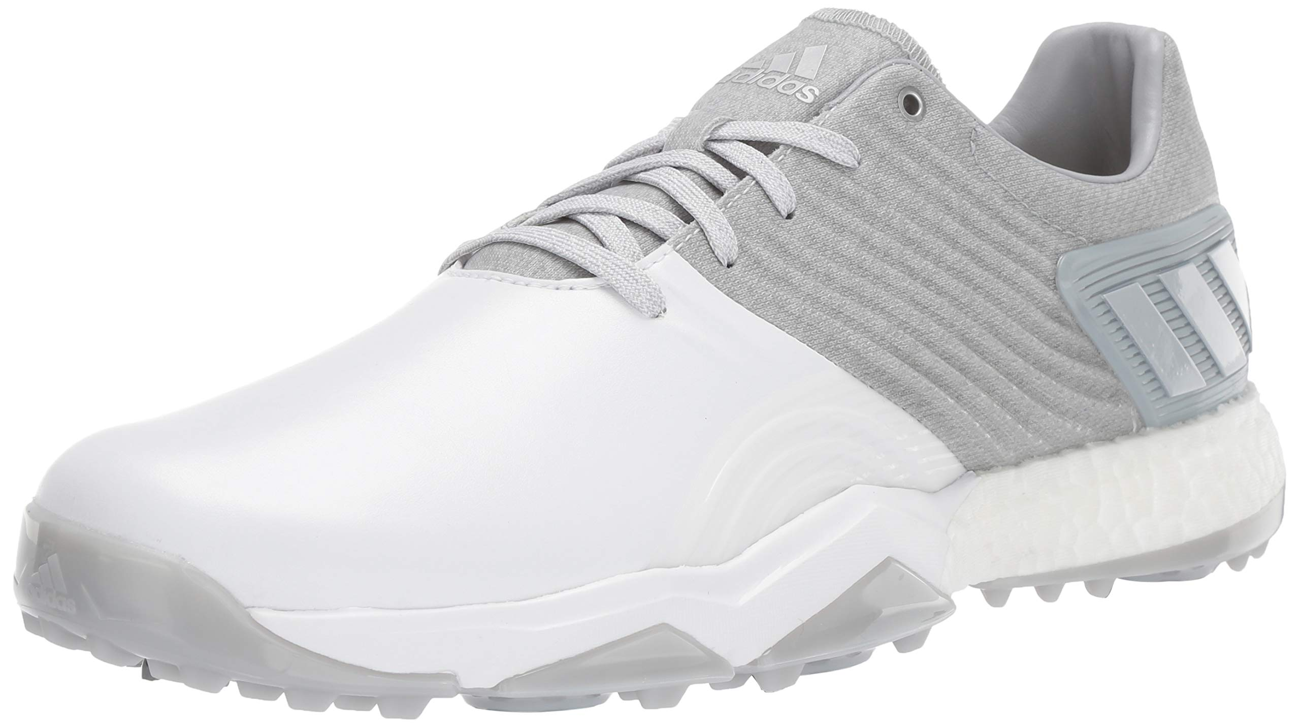 adidas Men's Adipower 4ORGED Golf Shoe, Clear Onix/Matte Silver/FTWR White, 10 M US by adidas