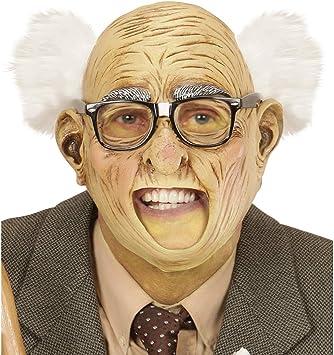 NET TOYS Máscara de Abuelo Medio Calvo con pelos | Piel Arrugada ...