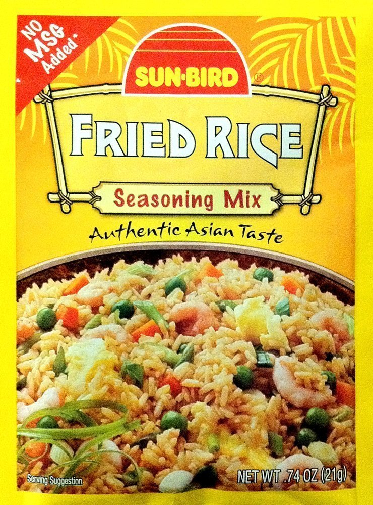 Sunbird Fried Rice Mix, 0.75 Ounce, (Pack of 6)
