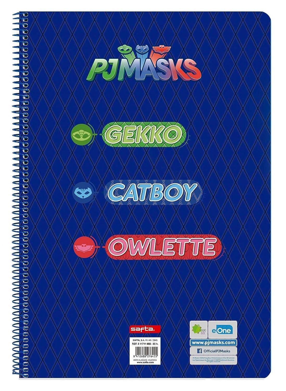 PJ Masks Libreta Folio 80 Hojas Tapas duras, 215 x 310 mm (SAFTA 511711066): Amazon.es: Juguetes y juegos